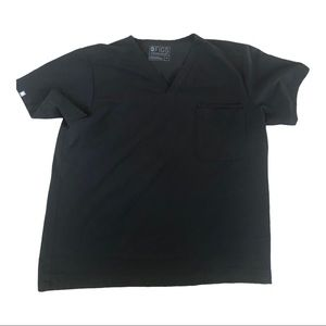 Figs black scrub top technical collection size XL